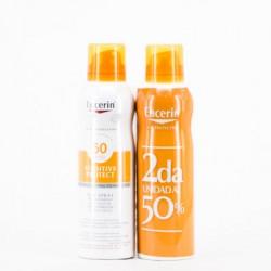 Eucerin Sun SPF50 + spray transparente DUPLO
