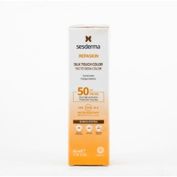 Soro Repaskin Fotoportector SPF50 toque de cor de seda, 50ml