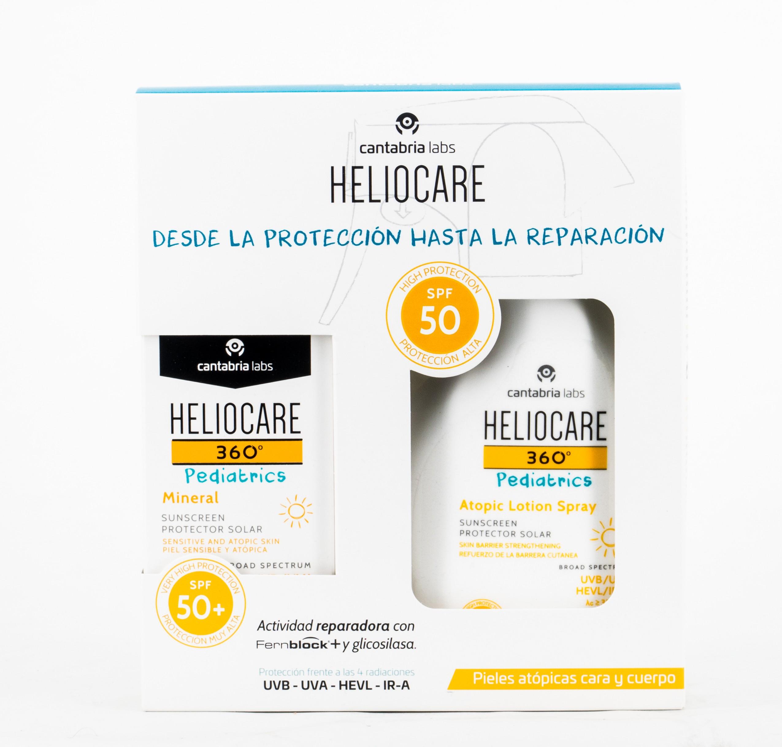 Heliocare 360 Pack Pediatrico Mineral + Atopic Locion