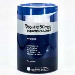 Regaine Minoxidil espuma 50mg/g. 3x60g