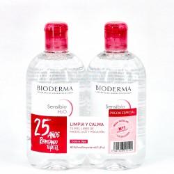 Bioderma Pack Sensibio H2O Solución Micelar 500ml + 500ml