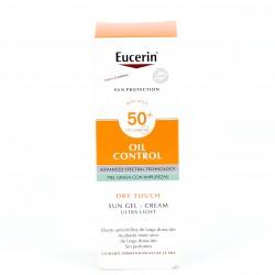 Eucerin Sun gel creme óleo controle SPF50 +, 50ml.