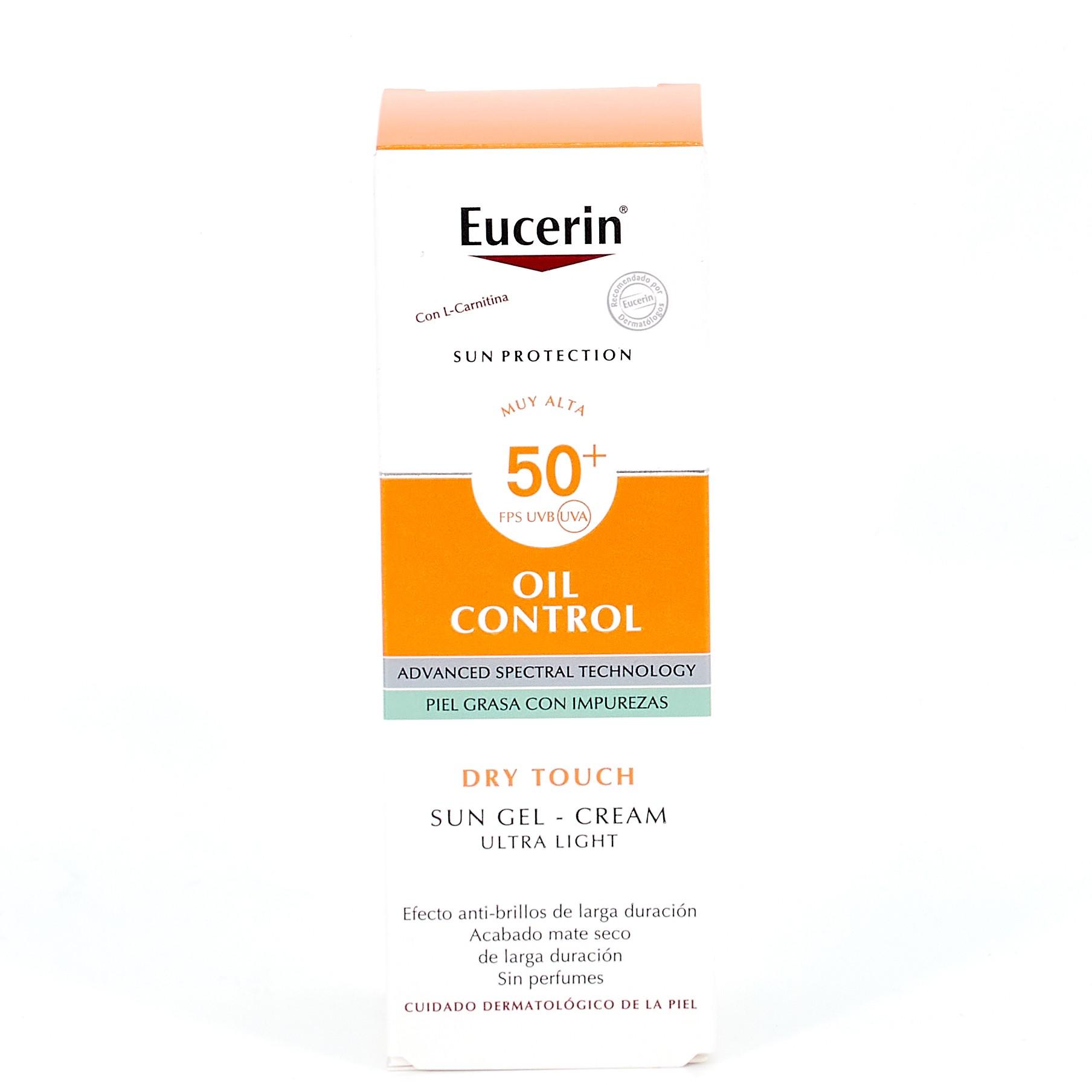 Eucerin Sun Gel Creme Rostro SPF50+, 50ml.