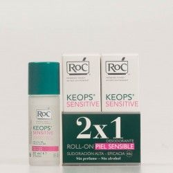 Roc Keops Desodorante Piel Sensible DUPLO, 2x30ml.