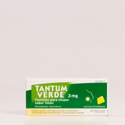 Tantum Verde 3 mg Pastillas para chupar sabor Limón