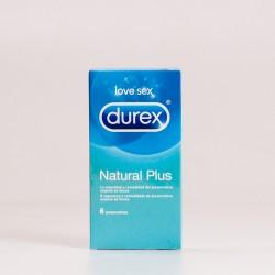 Durex Natural Plus, 6 Preservativos.