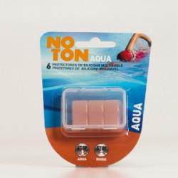 Noton Aqua Plugs de silicone moldável, 6Pcs.