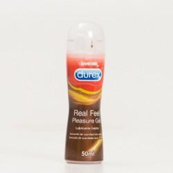 Durex Real Feel Pleasure Gel Lubricante, 50ml.