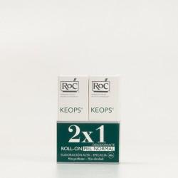 Duplo Roc Keops Desodorante roll-on Piel Normal sudoración alta, 2x30ml.