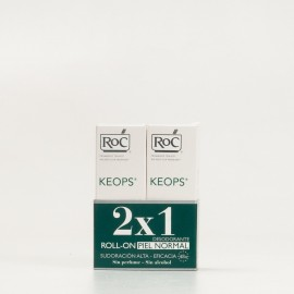 Duplo Roc Keops Desodorante roll-on Piel Normal sudoración alta, 2x30ml.